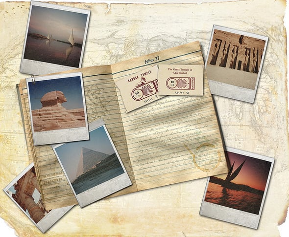Retro travel collage Photoshop tutorial
