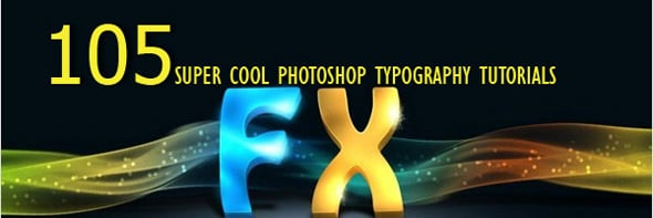 101 Top Photoshop Typography Tuts