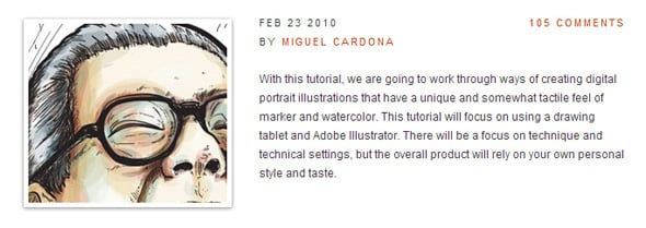 Make Watercolor and Marker Style Portraits with IllustratorDesign