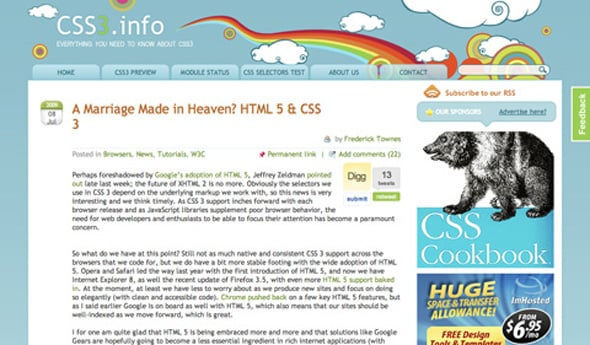 70 Must-Have CSS3 and HTML5 Tutorials and Resources