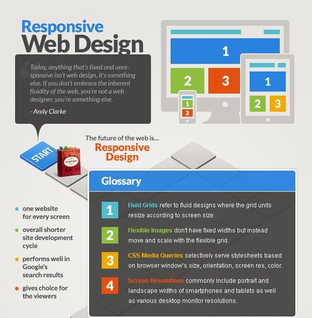 Responsive Web Design Interactive Infographics