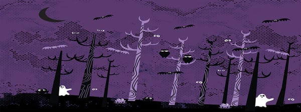 Spooky Purple Night Facebook Cover