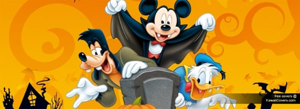 Mickey Mouse Halloween Facebook Cover
