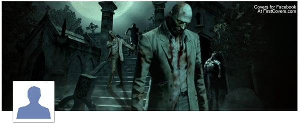 Zombies Walking Facebook Profile Cover