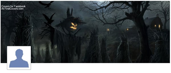 Halloween Scarecrow Profile Facebook Cover
