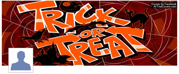 Trick or Treat Facebook Profile Cover
