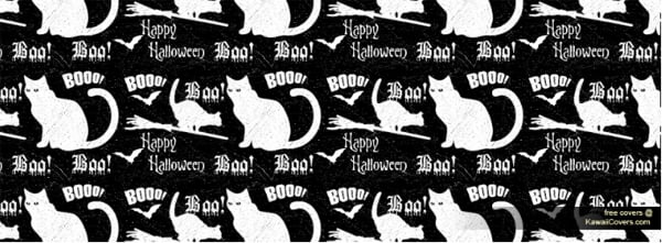 Happy Halloween Grunge Cat Facebook Cover