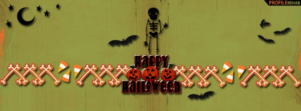 Happy Halloween Scelleton Facebook Cover