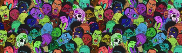 Halloween Zombies Facebook Cover