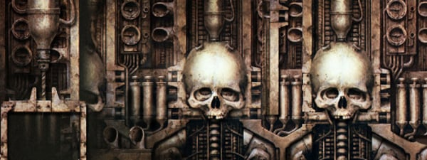 Cool Giger Skull Facebook Cover