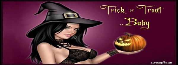 Trick or Treat Baby Facebook Cover