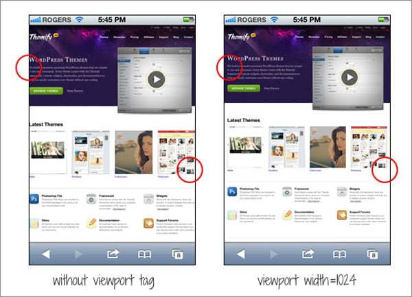 Viewport Meta Tag For Non-Responsive Design