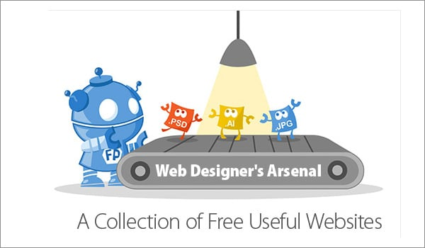 Web Designers Arsenal: a Collection of Free Useful Websites