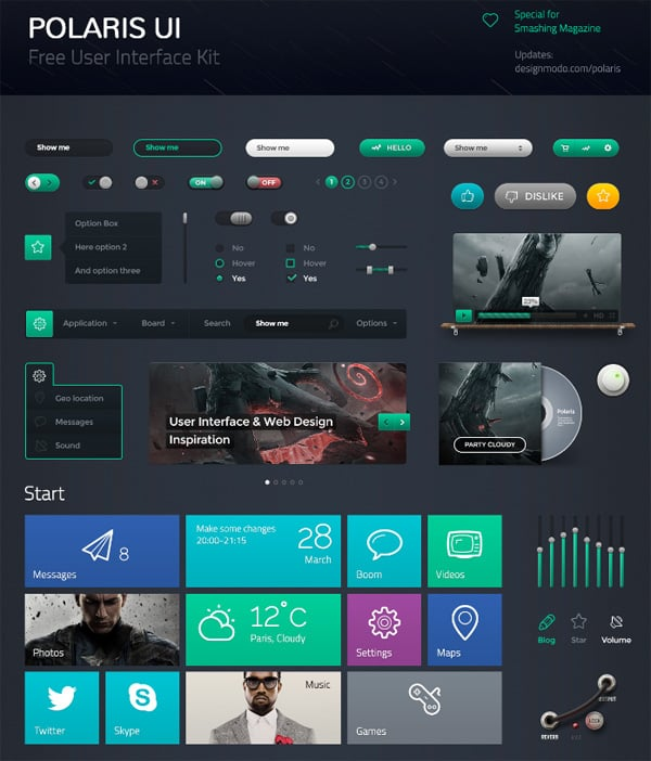 Download UI kit PSD