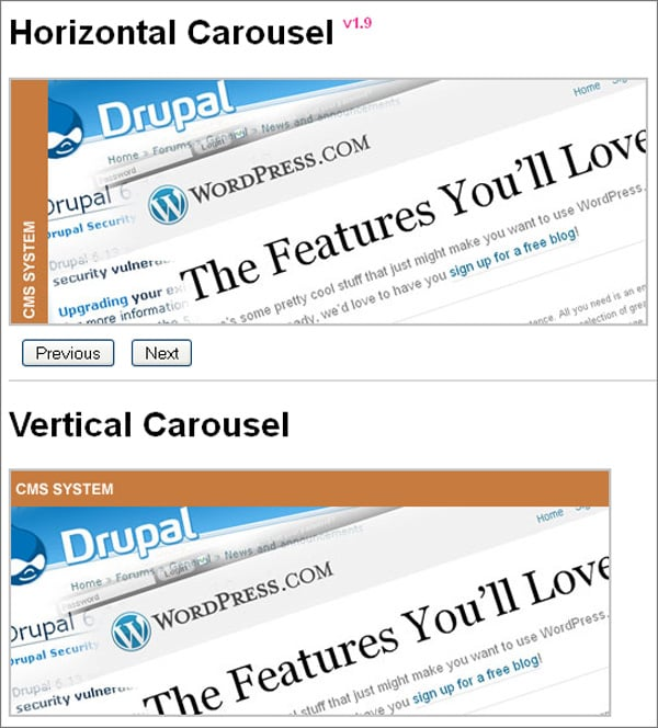 jQuery Carousel Sliders to Download
