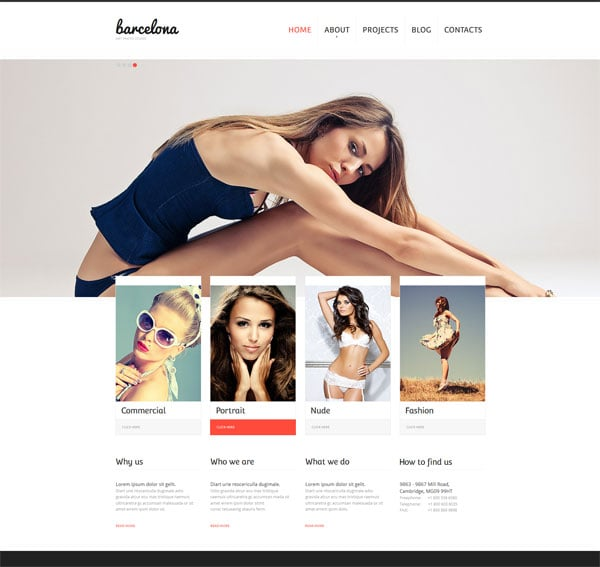 Website Template with jQuery Slider