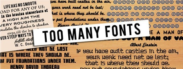 How Many Fonts Does a Designer Really Need?