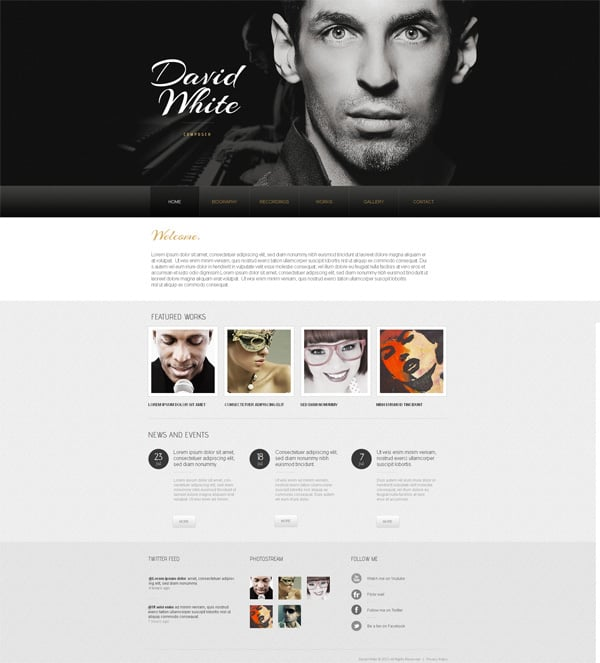 Black and White Website Templates: Why Are They So Cool?
