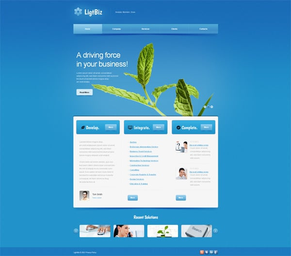 Amazing Blue Website Designs Inspire You