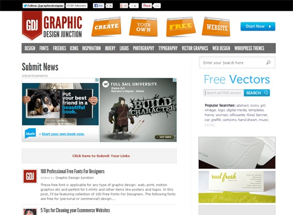 20 Websites To Submit Design Related News And Articles To
