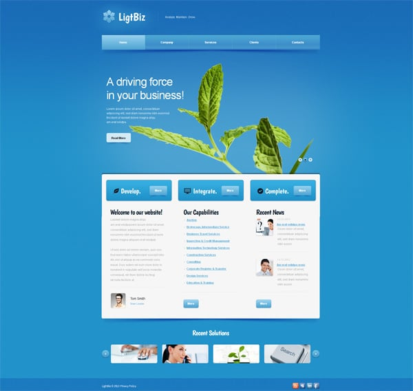Website Templates with Larg20Background Galleries