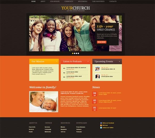 how to build a church website