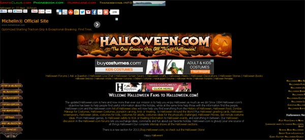 halloween website design ideas to give your readers a shock - Website Design Ideas