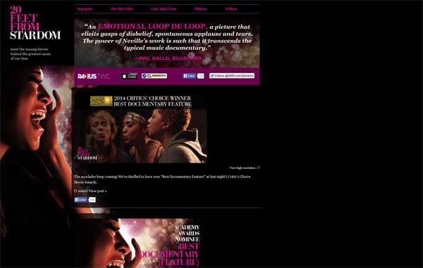 Movie Websites: 20 Feet from Stardom