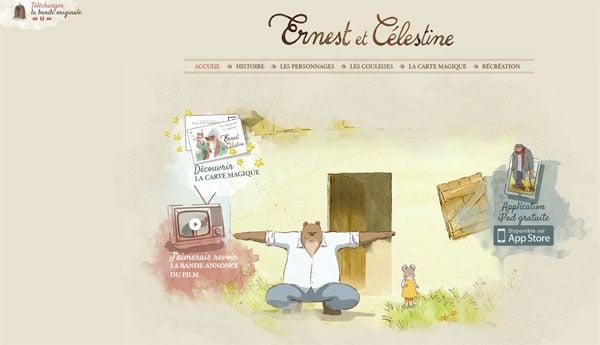 Animated Movie Websites: Ernest &Celestine