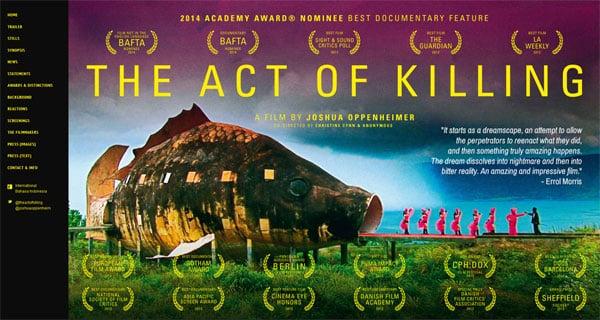 Documentary Movie Websites: The Act of Killing
