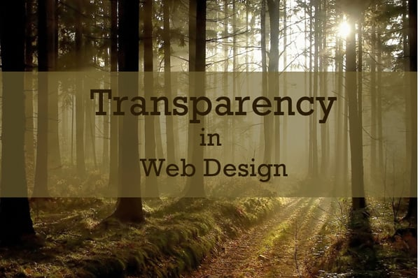 Transparent Elements in Website Templates Design