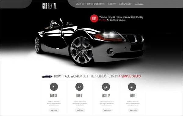 Car Website Templates Points To Look For