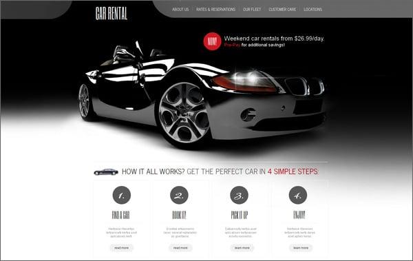 Car Dealer Web Template Free