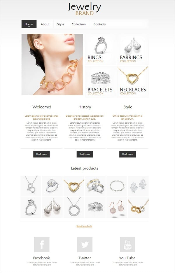 Jewelry Store Website Template