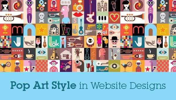 Pop Art Style Elements In Website Designs