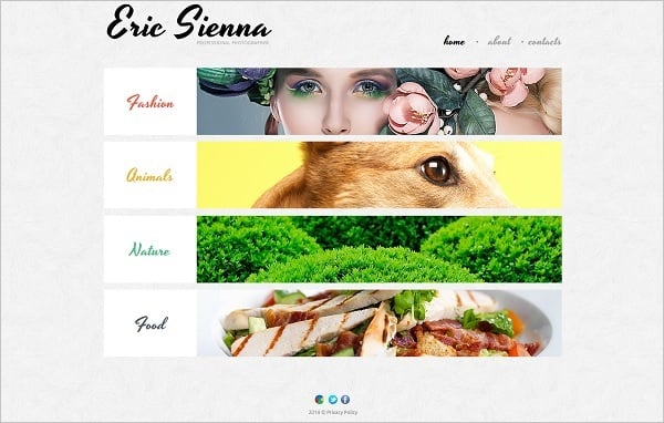 Symmetry and Asymmetry in Web Design Template