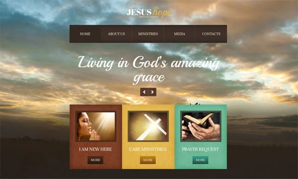church web template with photo background - Church Website Design Ideas