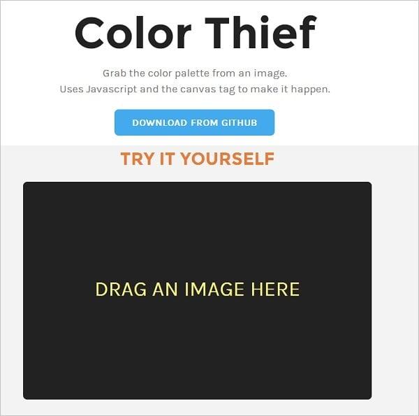 Color Thief Color Palette Generator