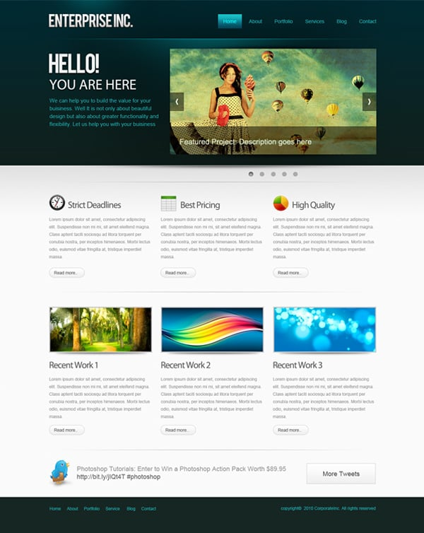 Create website layout in photoshop 50 step by step tutorials for Draw website layout online