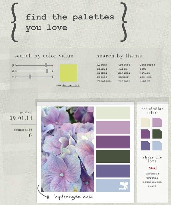 Design Seeds Color Palette Inspiration