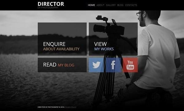 videographer website templates