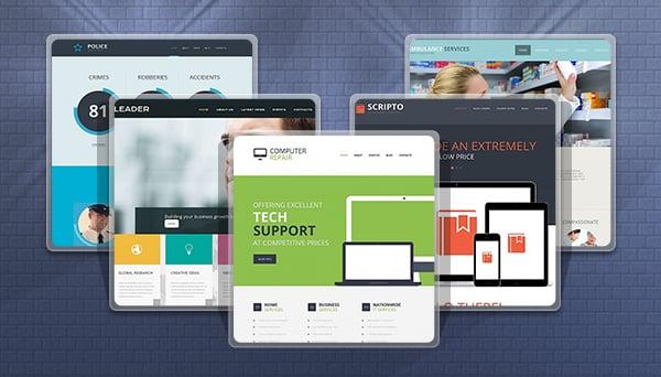 Flat Website Templates