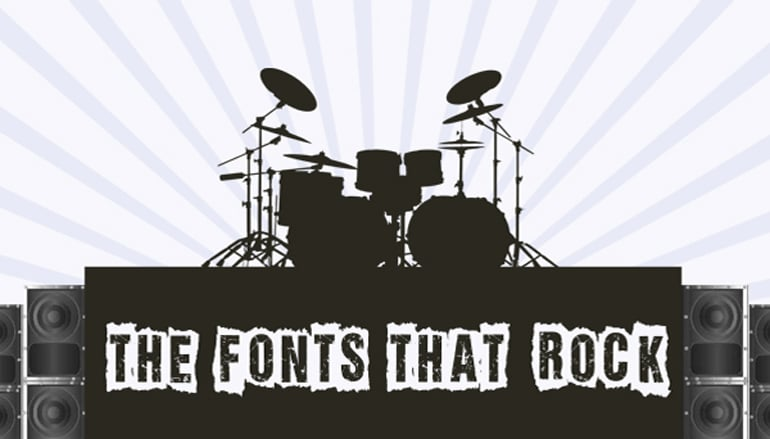 Free Rock Band Fonts - main image