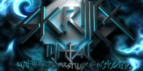 Free Rock Band Fonts - skrillex scary