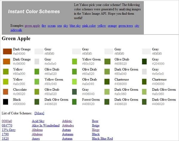Instant Color Schemes Yahoo