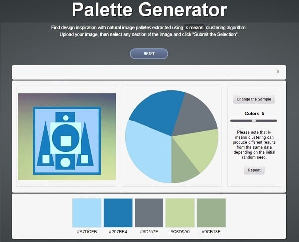 how to use a color palette in web design