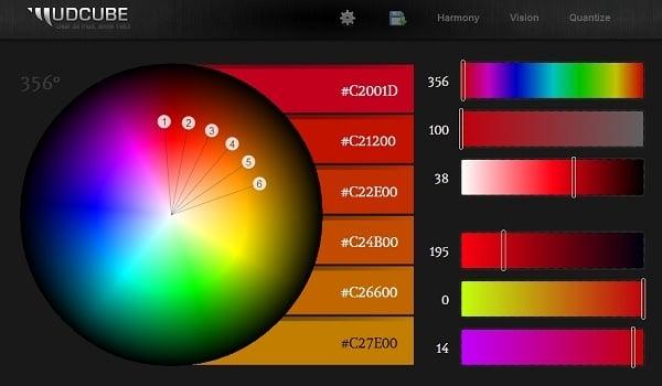 Sphere Color Palette generator