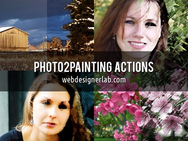 Photo-to-Painting - Free Photoshop Actions Set