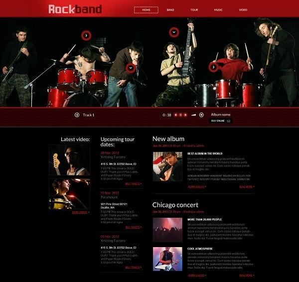 video web template