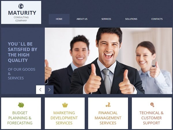 Consulting website templates for your business efficiency for Web design consultant